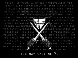 The Victim and the Villian.. but you may call him V