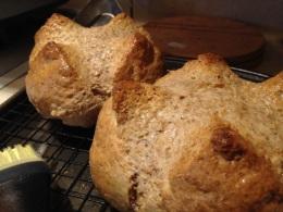 Brown soda bread –yum!